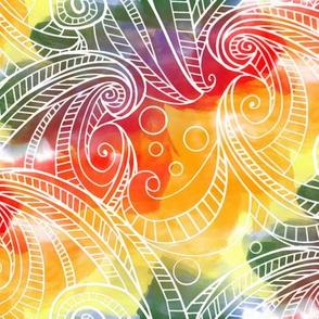 hawaii rainbow waves