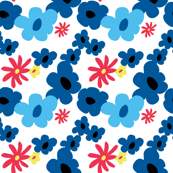 Playful Blue Floral