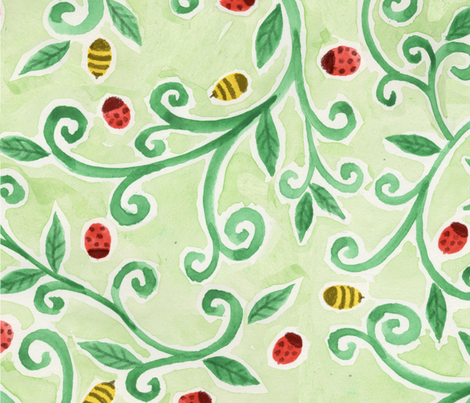Backyard Insects fabric by ltmadigan on Spoonflower - custom fabric