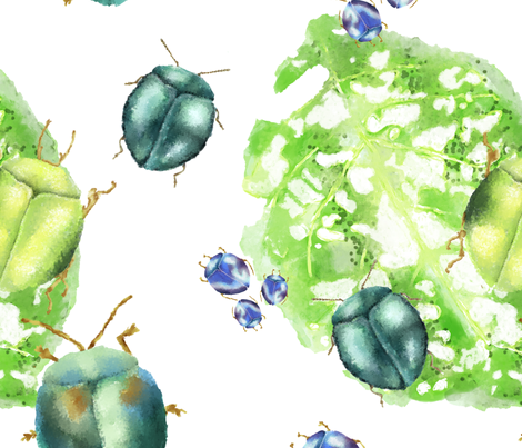 Beetle Scatter fabric by maidencrone on Spoonflower - custom fabric