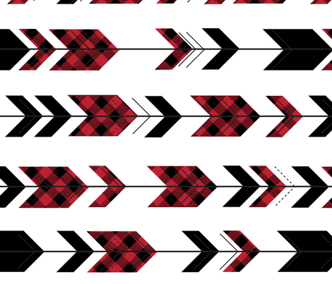 fletching arrows buffalo plaid || the happy camper collection (90) fabric by littlearrowdesign on Spoonflower - custom fabric