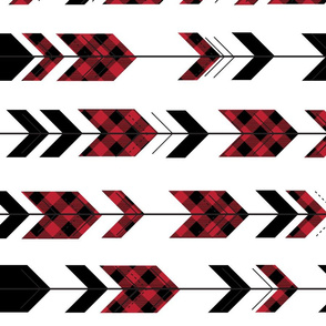 fletching arrows buffalo plaid || the happy camper collection (90)