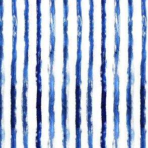 Blue painted vertical stripes