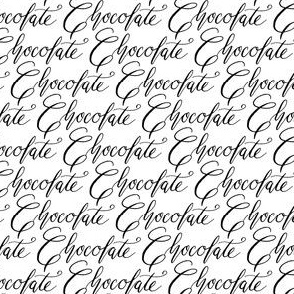 Chocolate candy words calligraphy handwriting text font black and white_Miss Chiff Designs