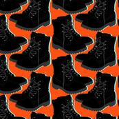 Boots on orange