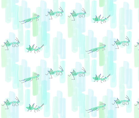 Mister Grasshopper fabric by chris_jorge on Spoonflower - custom fabric