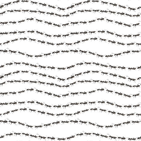 The Ants Go Marching fabric by brittany_vogt on Spoonflower - custom fabric