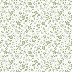 Timeless - Tiny Floral - Green