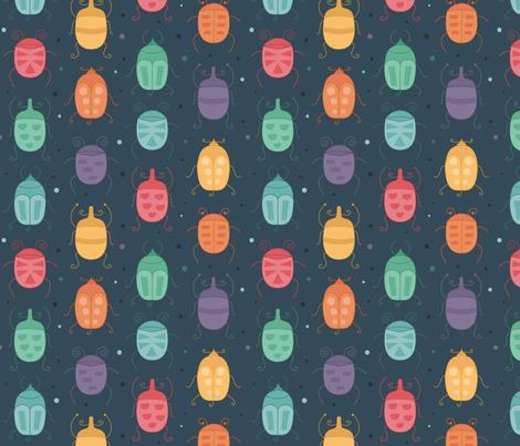 Beetles fabric by la_fabriken on Spoonflower - custom fabric