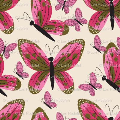 butterflies in flight ~ watercolour