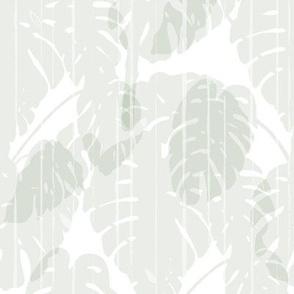 Monstera jungle Stripes soft white