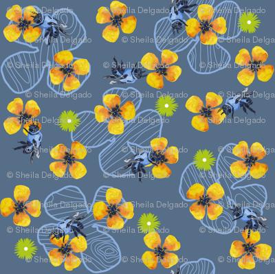 Bee Bloomers - Steel Blue