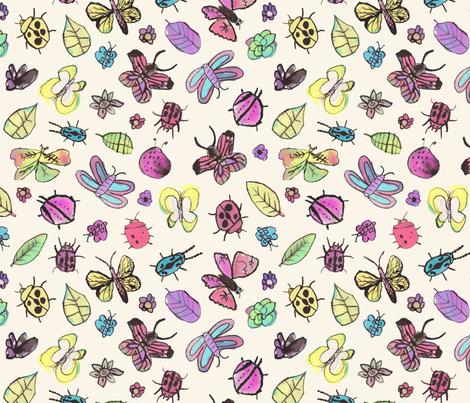 Friendship Garden fabric by jenimp on Spoonflower - custom fabric