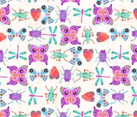 Colourful_Critters fabric by lauren_hamill_designs on Spoonflower - custom fabric