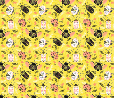 Classy_Bugs fabric by nuk on Spoonflower - custom fabric