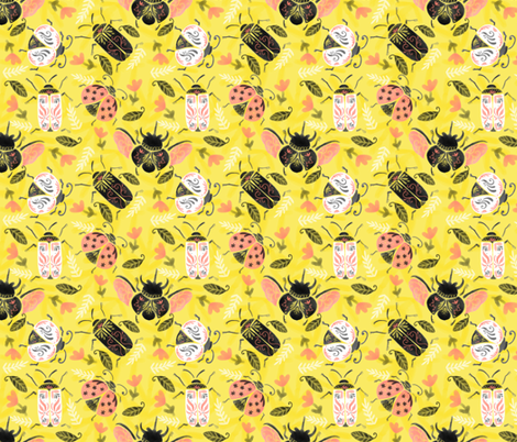 Classy_Bugs fabric by nuk on Spoonflower - custom fabric
