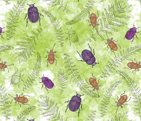Insects fabric by k_marchel on Spoonflower - custom fabric