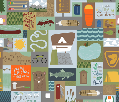 The Great Outdoors fabric by snowalligator on Spoonflower - custom fabric