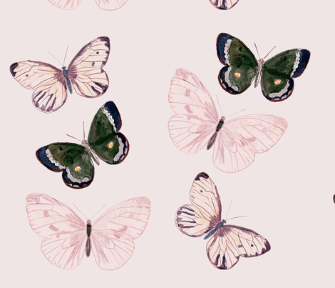 butterflys fabric by luvloo on Spoonflower - custom fabric