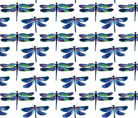 Dragonflies fabric by ivydoodlestudio on Spoonflower - custom fabric
