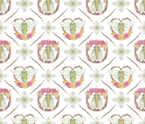 Ready to Fly - Cicada Print fabric by hammyhaus on Spoonflower - custom fabric