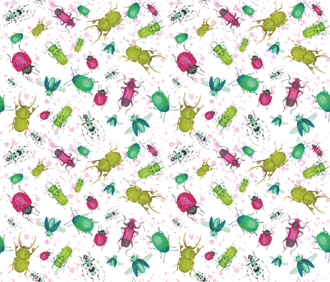 Beetle late than never fabric by spottedpepperdesigns on Spoonflower - custom fabric