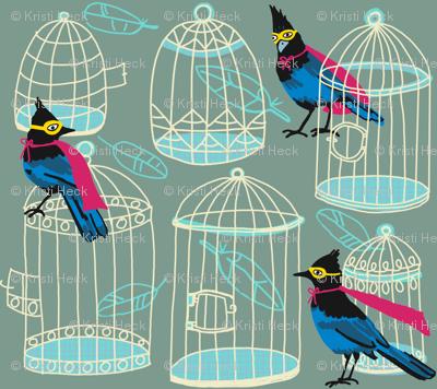 birdcage stack_super jays [pistachio]