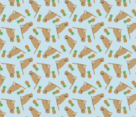 Tiny Yellow Labrador Retrievers - pineapples fabric by rusticcorgi on Spoonflower - custom fabric