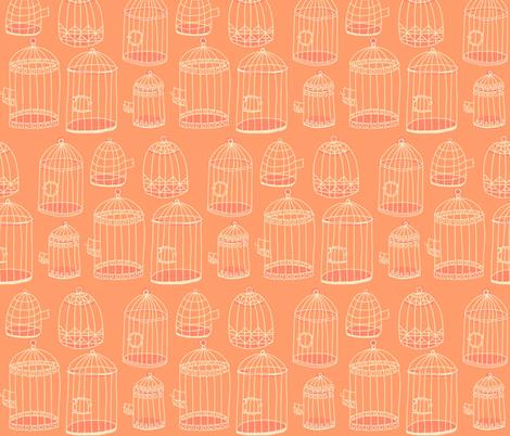 birdcage stack [peach] fabric by kheckart on Spoonflower - custom fabric