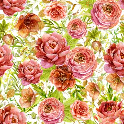 """21"""" Warrior Florals / Pink Wash"""