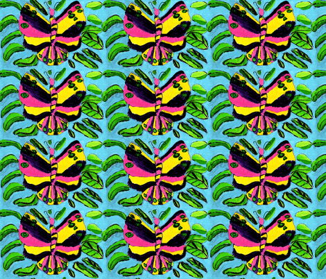 Big Bright Butterfly fabric by little_dove on Spoonflower - custom fabric
