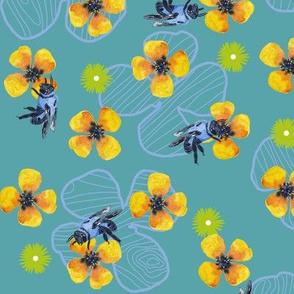Bee Bloomers  - Teal