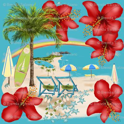 Rainbow Waikiki Tropical Vacation