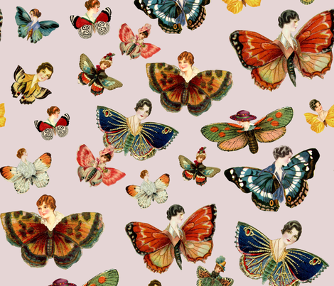 Lady butterflies! fabric by gasponce on Spoonflower - custom fabric