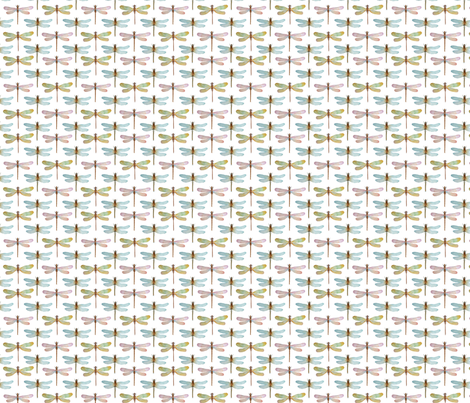 Watercolor dragonflies mini fabric by ginkodesign on Spoonflower - custom fabric