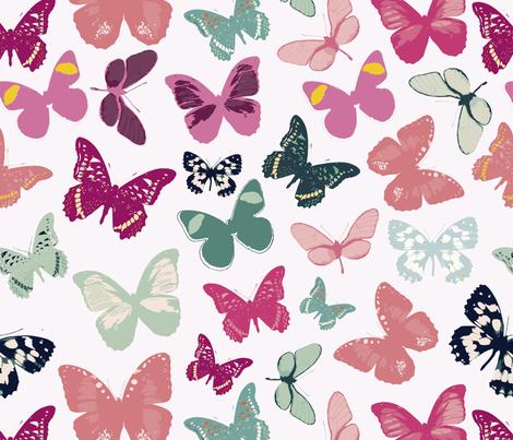 water butterflies  fabric by alextilalila on Spoonflower - custom fabric