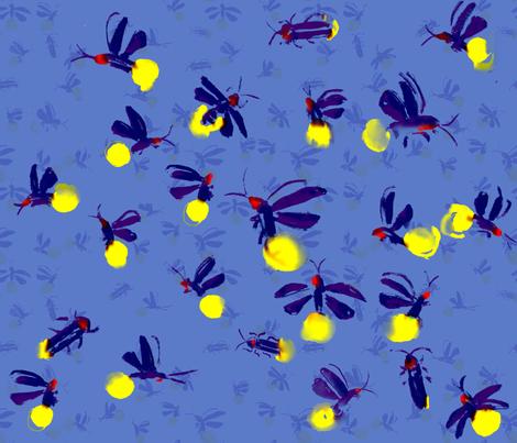 fireflies fabric by hedgepigart on Spoonflower - custom fabric