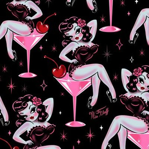 Cherry Martini Girl - LARGE