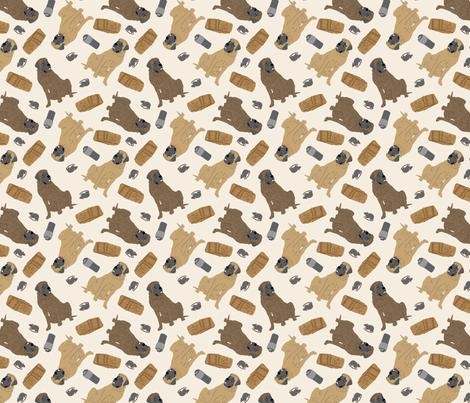 Tiny Mastiffs - barn hunting fabric by rusticcorgi on Spoonflower - custom fabric