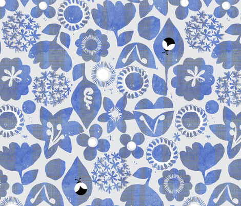 bugs in the garden fabric by ottomanbrim on Spoonflower - custom fabric