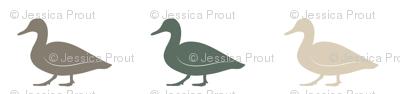 multi duck - wholecloth coordinate (dark sage)