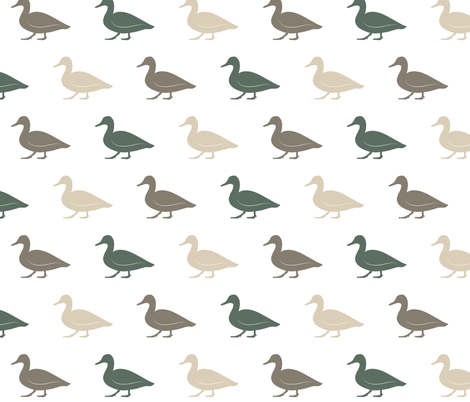 multi duck - wholecloth coordinate (dark sage) fabric by littlearrowdesign on Spoonflower - custom fabric