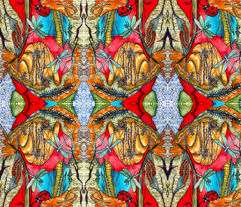Insects Interacting fabric by madartes on Spoonflower - custom fabric