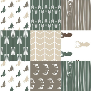 duck wholecloth (90) - hunting fishing outdoors (dark sage)