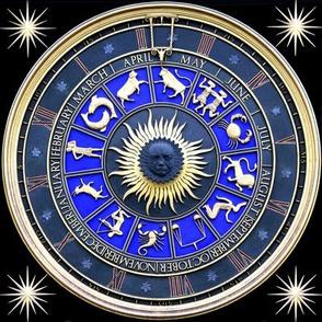5 clocks time stars zodiac Horoscope Aries Taurus Gemini Cancer Leo Virgo Libra Scorpio Sagittarius Capricorn Aquarius Pisces months years baroque Victorian January February March April May June July August September October NovemberDecember astrology ro