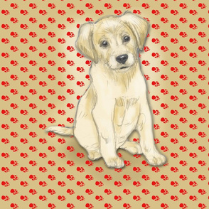 Sitting Labrador Retriever Puppy for Pillow