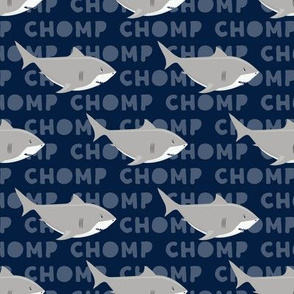 Sharks CHOMP - navy