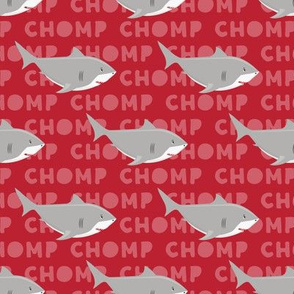 Sharks CHOMP - red