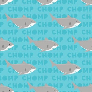 Sharks CHOMP - blue