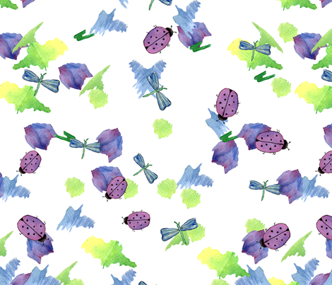 WhimsicalWatercolorContest fabric by laurinnie1812 on Spoonflower - custom fabric